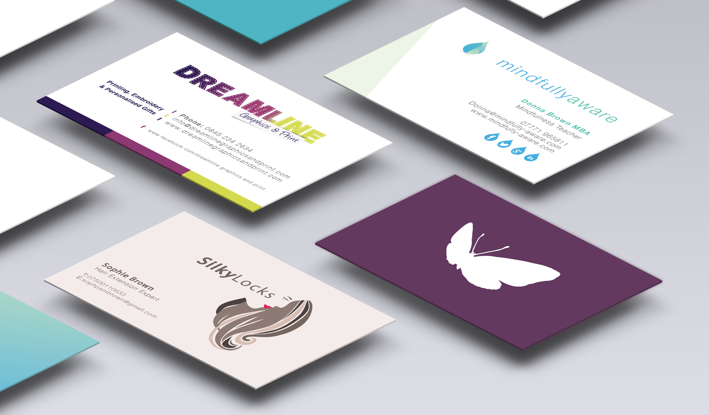 Business Cards | Purple Tasche